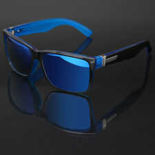 Large Square Frame Men Women Mirrored Sunglasses Driving Baseball Outdoor Sports