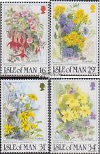 united kingdom - Island Man 344-347 (complete issue) FDC 1987 Wildflower