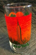 Nedicks Drinking Glass New York Empire State Building Rare Find