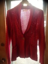 CHARLIE ROBIN ANTHROPOLIGIE Red Cardigan Sz Medium