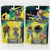 Lot of 2- 95 Kenner Batman Forever Figures Street Biker Robin & Hydro Claw Robin