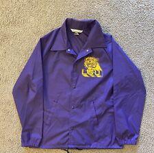 Vintage Chalk Line Men's NCAA LSU Tigers Lightweight Wind Jacket Sz Med Purple