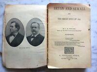 1896 Antique Book JENNINGS BRYAN Great Issue 1ST President Nebraska Maine SILVER