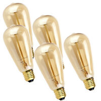 5x E27 ST64 Vintage Squirrel Cage Antique Edison Industrial Filament Light Bulb
