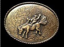 Cowboy Cowgirl Rodeo Bullrider Bull Horse Western Belt Buckle Buckles