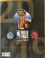 2019 NBA FINALS PROGRAM GSW GOLDEN STATE WARRIORS TORONTO RAPTORS (160 pages)