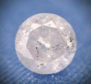 1.07ct Salt and Pepper.  Round Brilliant Cut Diamond. Loose diamond.