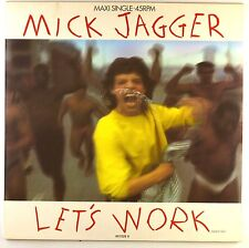 """12"""" Maxi - Mick Jagger - Let's Work (Dance Mix) - D36 - washed & cleaned"""
