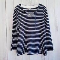 Talbots Women's Size Small Stripped Long Sleeve Sweater 100% Cotton NWT