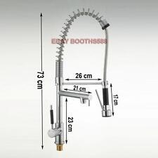 3 Handle Modern Basin Kitchen Sink Spray Chrome Brass Faucet Tap Mixer 73cm High