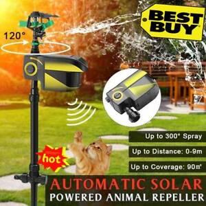 Sprinkler Motion Activate Animal Deterrent/Repellent Water Spray Scarecrow Solar
