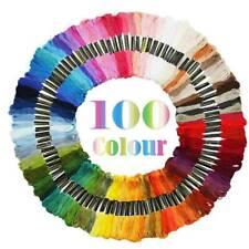 100pcs/set Skeins Mouline Stranded Cotton Cross Stitch Braiding Sewing Craft