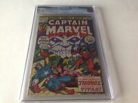 CAPTAIN MARVEL 28 CGC 7.5 AVENGERS BLACK PANTHER SCARLET WITCH MARVEL COMICS