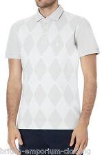 BALLANTYNE Cotton Diamond Cream Short Sleeved Polo T Shirt UK40 IT50 LARGE BNWT