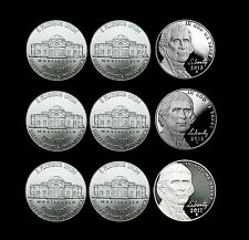 2011 2012 2013 P+D+S Jefferson Nickel Mint Proof Set & PD from Bank Rolls