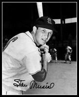 Stan Musial #7 Autographed Repro Photo 8X10 - St. Louis Cardinals