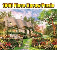 Spiele Erwachsene 1000 Stück England Cottage Mini Jigsaw Cardboard Puzzles