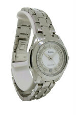 Bulova Precisionist 96P115 Women's Round Mother of Pearl Diamond Stainless Watch