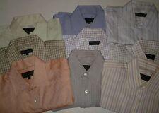 ROBERT TALBOTT Bespoke Lot of 9 Long Sleeve French Cuff Dress Shirts Sz 15.5 x32