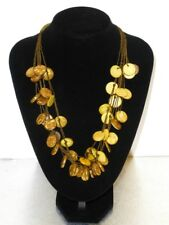 Coconut Beads African Necklace with Earrings