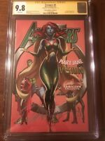 "AVENGERS #8 CGC 9.8 JSCOTTCAMPBELL.COM  EDITION ""D"" SS SIGNED BY CAMPBELL"