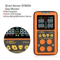 ST8900 4in1 Digital Gas Detector H2S Carbon Monoxide Gas Leak Tester Air Monitor