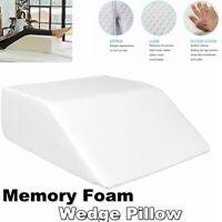 Large Acid Reflux Memory Foam Bed Wedge Pillow Leg Back Support Cushion Sleeping