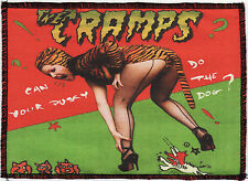 CRAMPS OVERLOCKED PATCH CAN YOUR PUSSY DO THE DOG? POISON IVY PSYCHOBILLY A6+