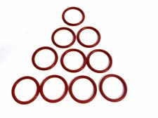"""015 O-Ring Red Silicone 70A Durometer 9/16"""" ID 11/16"""" OD X 1/16"""" Width 10 Pack"""
