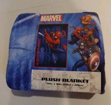 "NEW Marvel Spider-man 60"" X 90"" Plush Blanket Spiderman"
