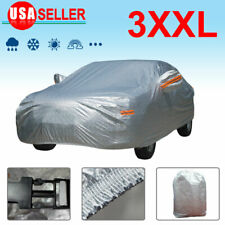 Full Car Cover PEVA Gray Outdoor Waterproof Breathable All Weather Protection US