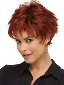 ENVY WIG - Genny Short Hair Style - Medium Brown - NWT MSRP $155