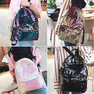 Sequins Backpack Glitter Bling School Hiking Travel Backpacks Shoulder Bag