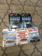 Hot Wheels 5-car Ferrari Set - Miami Vice Magnum pi Ferris Bueller Hart To Hart