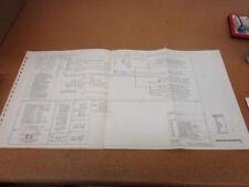 original 1977 lincoln continental wiring diagram schematic sheet service  manual