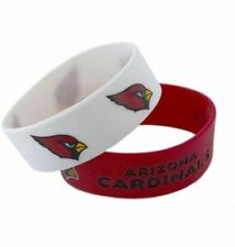 Arizona Cardinals Silicone Bracelet 2 Pack 2 Colors Wide Band **Brand New**