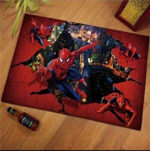 Spider Man Avengers Area Rug Living Room Non-Slip Carpet Floor Mat Bedroom Decor