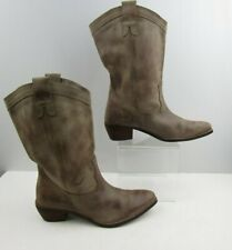 Ladies Diba True Brown Distressed Leather Fashion Boots Size : 10