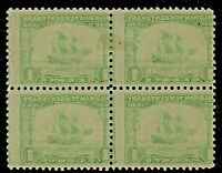 EFO 548 BEAUTIFUL FULL REVERSE OFFSET ON ALL FOUR STAMPS MINT BLOCK OF FOUR