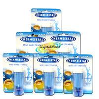 6x Hermesetas Mini Sweeteners Original Calorie Free Tablets 1200