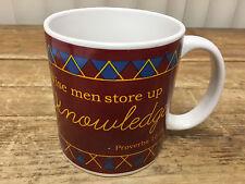 Wise Men Store Up Knowledge Coffee Mug Proverbs 10:14 Argyle HUGE Tartan Dei