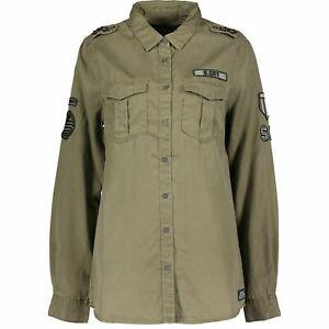 Superdry Women's Khaki Green Cowboy Military Shirt    Size Small   RRP £49.99