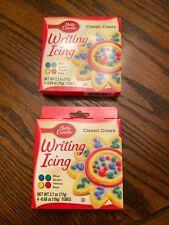 NIB! 2 Boxes Betty Crocker Classic Colors Writing Icing!