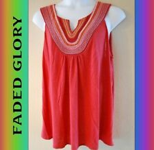 WOMEN'S PLUS SIZE 3X 22W 24W EMBROIDERED SUMMER TUNIC TANK - CLOTHING NEW