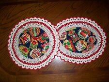 Set of 2 New Handmade Crochet Doilies--Vintage Apple Signs-Various Types