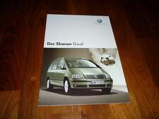 VW Sharan GOAL Prospekt 12/2004
