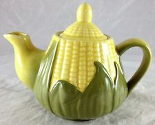 SHAWNEE YELLOW CORN KING PATTERN TEA POT  #65 WITH HANDLE & POURING SPOUT