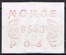 Noorwegen postfris automaatzegels 1980 MNH A2 (05)