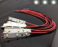 S328 - 10 Stück LED Hausbeleuchtung mit Kabel weiß 8-16V Beleuchtung Häuser