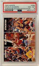 1993 Michael Jordan Hoops #289 PSA 8 NM-MT ALL-STAR GOAT HOF NEW LABEL